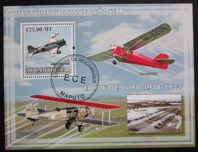 Mosambik 2009 Letadla Mi# Block 255 Kat 10€ 0424