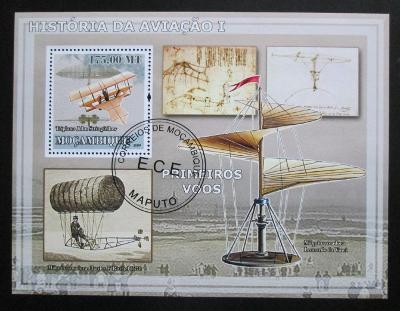 Mosambik 2009 Historie letectví Mi# Block 253 Kat 10€ 1533