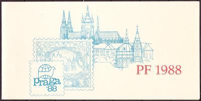 ČSSR - NOVOROČENKA PF 1988 - VÝSTAVA PRAGA 1988 (T6711)