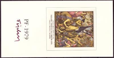 ČSSR - NOVOROČENKA PF 1979 - TIZIANO VECELLI, PODPIS FISCHER (T6712)
