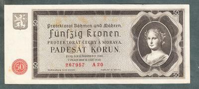 50 korun 1940 NEPERFOROVANA stav 1