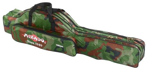 MIKADO obal na pruty 2 komorový 120 cm / Kamufláž