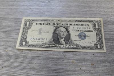 1 dollar USA  1957 silver certificate Z OBĚHU  stav 2-3