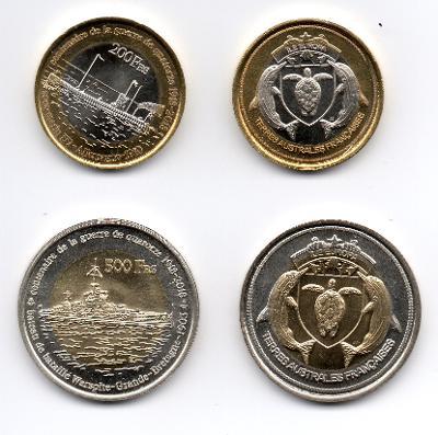 Europa: pamětní sada 2 mincí 200+500 francs 2018 UNC 1.sv.válka