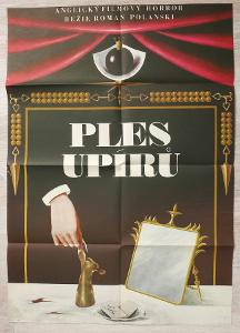 Filmový plakát Ples upírů A1 (Kratochvíl, 1968)