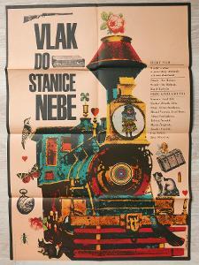 Filmový plakát Vlak do stanice nebe A1 (Vaca, 1972)