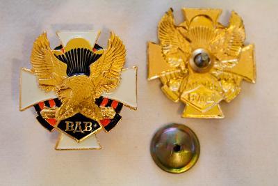 Odznak. Výsadkář. Armáda. nové. hliník