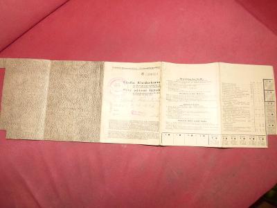 Pátý oděvní lístek, rok 1944, originál!