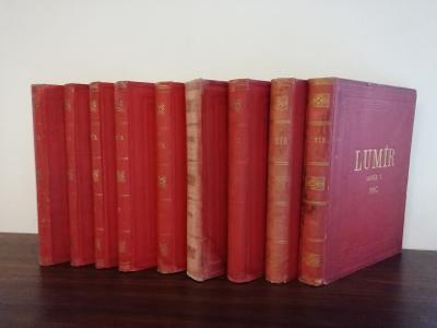 Ojedinělý soubor časopisů Lumír 1882 - 1890  Lumírovci