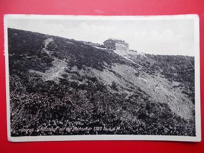 Sudety Sudetengau Jeseníky Frývaldov Šerák Jiřího chata razítko 1933