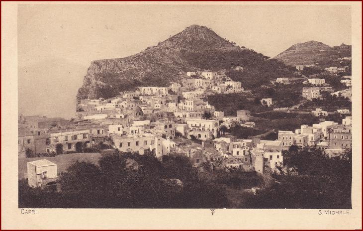 Capri (ostrov) * San Michele, pohled na město * Itálie * Z154 - Pohlednice
