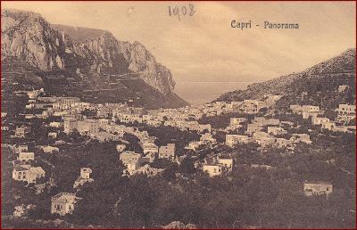 Capri (ostrov) * celkový pohled na město * Itálie * Z196