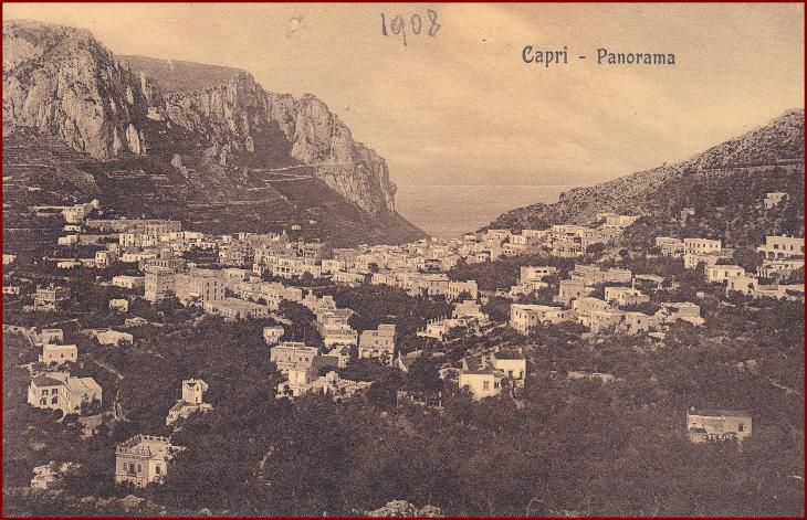 Capri (ostrov) * celkový pohled na město * Itálie * Z196 - Pohlednice