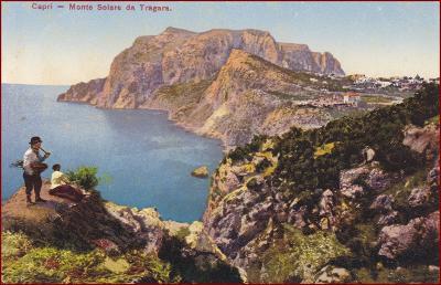 Capri (ostrov) * lidé, skály, část pobřeží * Itálie * Z234