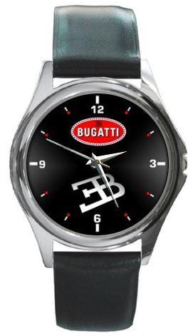 Bugatti Logo - hodinky kožený pásek