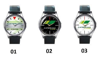 Caterham Logo - hodinky kožený pásek