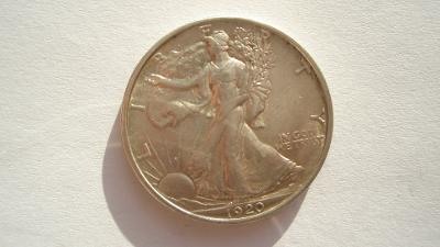 USA 1/2 dolar 1920 S  vzácný