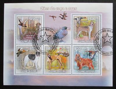 Guinea-Bissau 2009 Lovečtí psi a kachny Mi# 4486-90 Kat 14€ 1281
