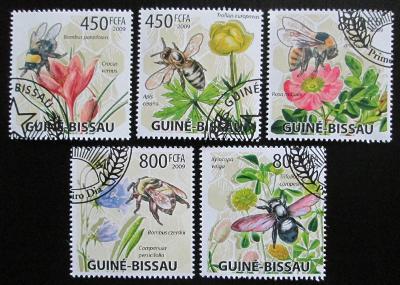 Guinea-Bissau 2009 Včely a květiny Mi# 4462-66 Kat 13€ 1288