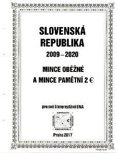 Album na mince Slovenské republiky - euro měna 2009-2020