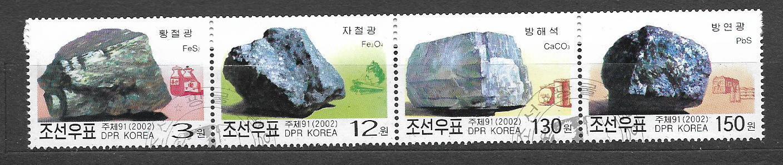 Korea 4591-4 Minerály
