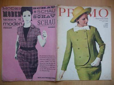 Německý časopis - PRAMO - PRAKTISCHE MODE - číslo 4. z roku 1967