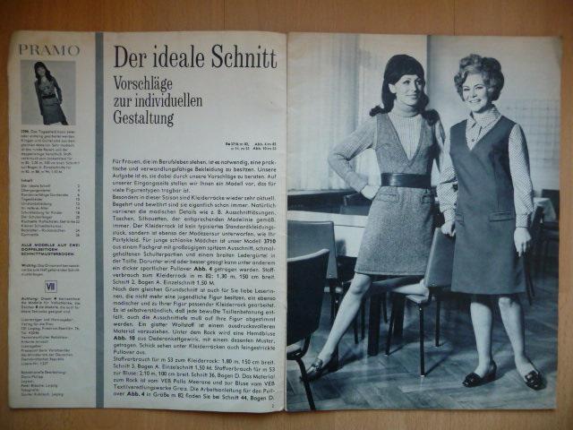 Německý časopis - PRAMO - PRAKTISCHE MODE - číslo 8. z roku 1969 - Časopisy
