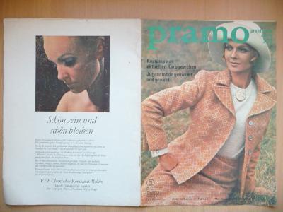 Německý časopis - PRAMO - PRAKTISCHE MODE - číslo 3. z roku 1972