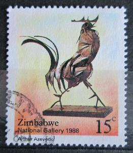 Zimbabwe 1988 Kovový kohout, Arthur Azevedo Mi# 378 0924