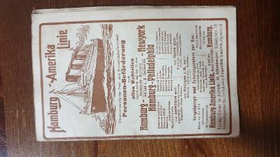 Lodní řád Hamburk-Newyork-1912-mapa