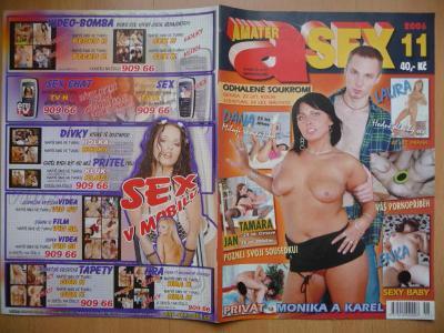 Erotický časopis - Amatér SEX - číslo 11. z roku 2006