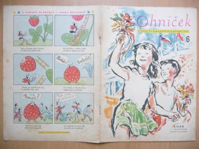 Časopis - Ohníček - ročník X. - číslo 6. z června roku 1960