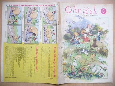 Časopis - Ohníček - ročník XI. - číslo 6. z června roku 1961