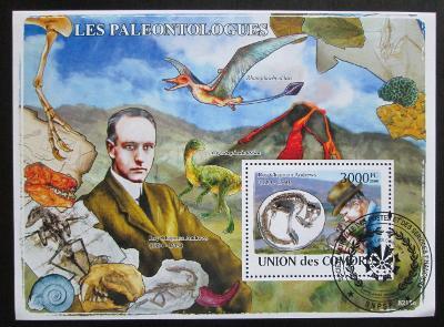 Komory 2009 Paleontologové Mi# Block 452 Kat 15€ 0676