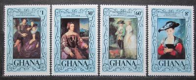Ghana 1977 Umění, Rubens Mi# 710-13 Kat 6€ 0704