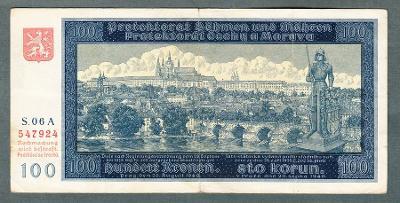 100 korun 1940 NEPERFOROVANA PRVNÍ VYDÁNÍ