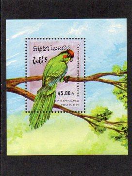 Kambodža-Papoušci 1989**  Michel Bl.164 / 7,50 €