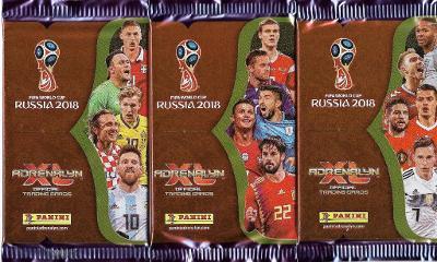 Fotbalové kartičky World Cup Russia 2018 Adrenalyn XL  : Nové balíčky