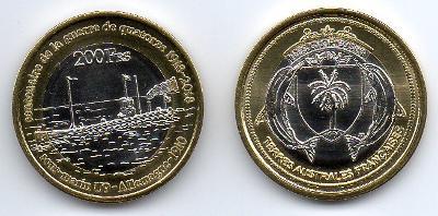Glorieuses 200 francs 2018 UNC - ponorka U9 - 1. světová válka