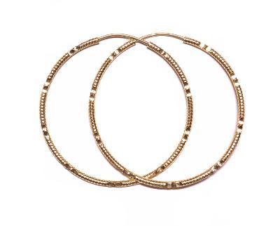 Zlaté náušnice kruhy větší AU0933 - žluté zlato