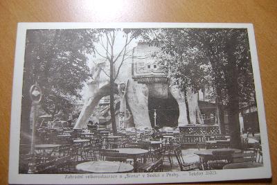 Praha západ-Sedlec  Dejvice-zahradní restaurace-U Slona-1920