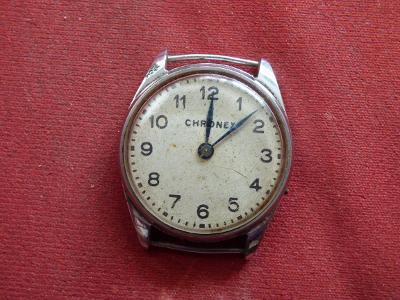 """Staré """"Chronex"""", pánské náramkáče, okolo 1910, průměr=cca 3,3 cm, chyb"""