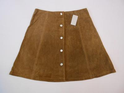 Kožená sukně broušená - ONLY