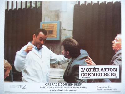 Filmový plakátek - OPERACE CORNED BEEF - Francouzský film - Jean Reno