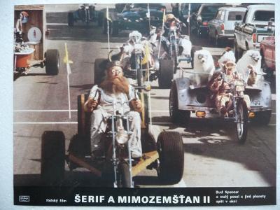 Filmový plakátek - ŠERIF A MIMOZEMŠŤAN II - Italský film - Bud Spencer