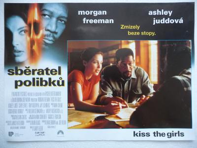 Filmový plakátek - SBĚRATEL POLIBKŮ - Morgan Freeman - USA 1997