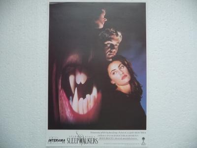Filmový plakátek - SLEEPWALKERS - Stephen King - USA 1992