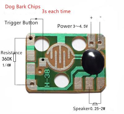 Zvukový modul Trigger Dog Animals Barking Music Chips
