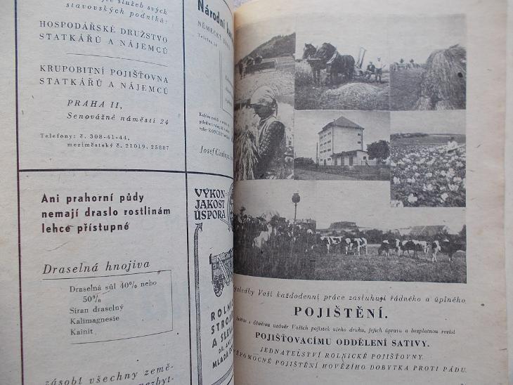 Rodinný kalendář 1944 Sativa Havlíčkův Brod reklama stroje brambory  - Antikvariát