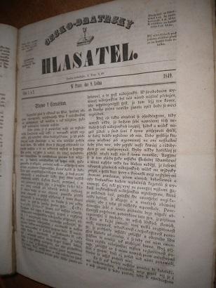 Česko-bratrský hlasatel - leden - červenec 1849